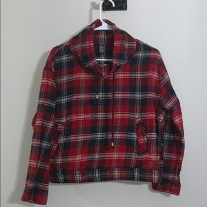 BNWT Forever 21 Cropped Flannel Pullover